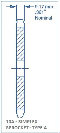 Sprocket In Single Strand Simplex Sprocket Type A Octaforce