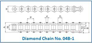 Diamond Chain No. 04B-1