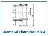 Diamond Chain No. 05B-3.