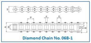 Diamond Chain No. 06B-1