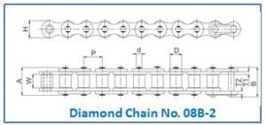 Diamond Chain No. 08B-2.