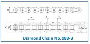 Diamond Chain No. 08B-3