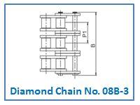 Diamond Chain No. 08B-3.