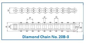 Diamond Chain No. 20B-3