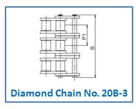 Diamond Chain No. 20B-3.