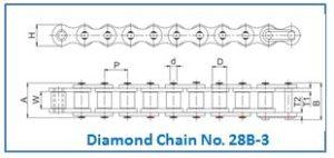 Diamond Chain No. 28B-3