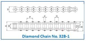 Diamond Chain No. 32B-1