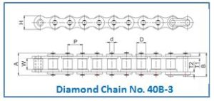 Diamond Chain No. 40B-3
