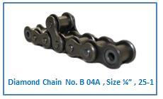 "Diamond Chain No. B 04A ,Size ¼"" , 25-1"