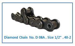 "Diamond Chain No. D 08A , Size 1.2"" , 40-2."