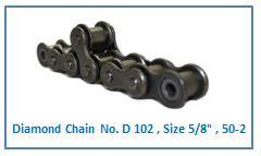Diamond Chain No. D 102 , Size 5.8 , 50-2 .