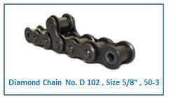 Diamond Chain No. D 102 , Size 5.8 , 50-3 .