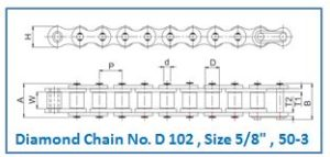 Diamond Chain No. D 102 , Size 5.8 , 50-3