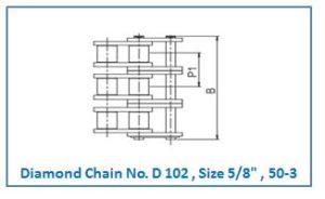 Diamond Chain No. D 102 , Size 5.8 , 50-3.