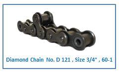 Diamond Chain No. D 121 , Size 3.4 , 60-1.