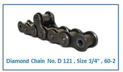 Diamond Chain No. D 121 , Size 3.4 , 60-2 .