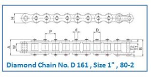 Diamond Chain No. D 161 , Size 1 , 80-2