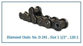 Diamond Chain No. D 241 , Size 1 1.2 , 120-1 .