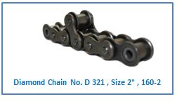 Diamond Chain No. D 321 , Size 2 , 160-2 .