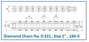 Diamond Chain No. D 321 , Size 2 , 160-3