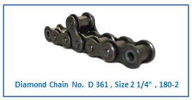 Diamond Chain No. D 361 , Size 2 1.4 , 180-2 .