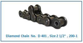 Diamond Chain No. D 401 , Size 2 1.2 , 200-1 .