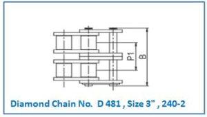 Diamond Chain No. D 481 , Size 3 , 240-2.