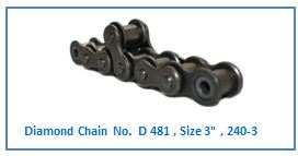 Diamond Chain No. D 481 , Size 3 , 240-3 .