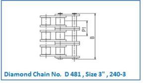 Diamond Chain No. D 481 , Size 3 , 240-3.