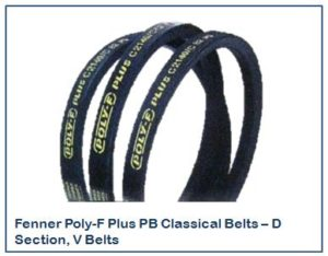 Fenner Poly-F Plus PB Classical Belts – D Section, V Belts