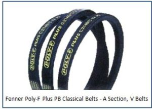 Fenner Poly-F Plus PB Classical Belts - A Section, V Belts
