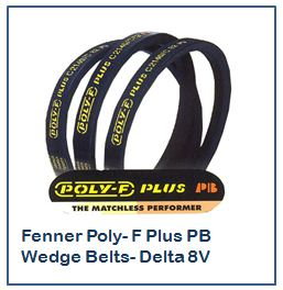 Fenner Poly- F Plus PB Wedge Belts- Delta 8V