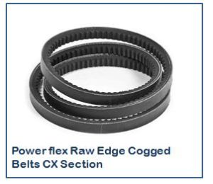 Power flex Raw Edge Cogged Belts CX Section