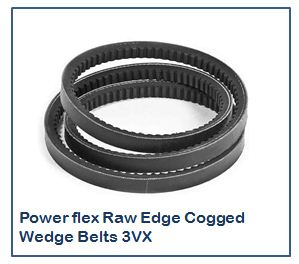 Power flex Raw Edge Cogged Wedge Belts 3VX