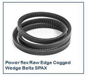 Power flex Raw Edge Cogged Wedge Belts SPAX