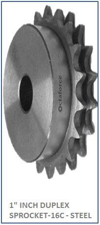 1 INCH DUPLEX SPROCKET-16C - STEEL 2