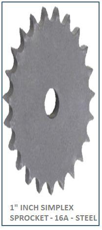 1 INCH SIMPLEX SPROCKET - 16A - STEEL 2