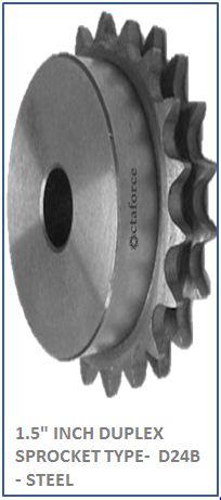 1.5 INCH DUPLEX SPROCKET TYPE- D24B - STEEL 2