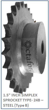 1.5 INCH SIMPLEX SPROCKET TYPE- 24B –STEEL (Type B) 2