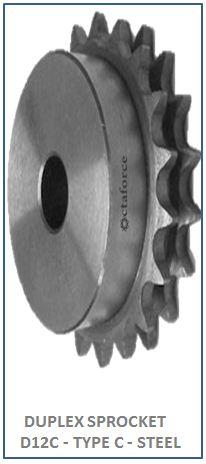 DUPLEX SPROCKET D12C - TYPE C - STEEL 2