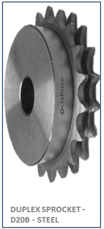 DUPLEX SPROCKET - D20B - STEEL 2