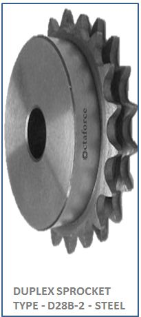 DUPLEX SPROCKET TYPE - D28B-2 - STEEL 2