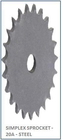 SIMPLEX SPROCKET - 20A - STEEL 2