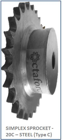 SIMPLEX SPROCKET - 20C – STEEL (Type C) 2