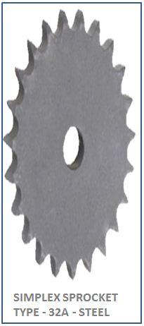 SIMPLEX SPROCKET TYPE - 32A - STEEL 2
