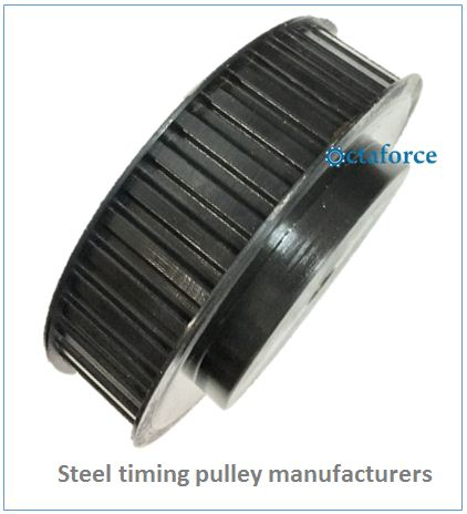 Steel timing pulley manufacturer