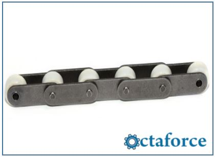 Roller Chain- ANSI Standard C-Type Double Pitch Roller Chain with Oversized Delrin (Plastic) Rollers