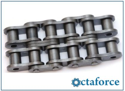 Roller Chain- ANSI Standard Heavy Series Double-Strand Roller Chain