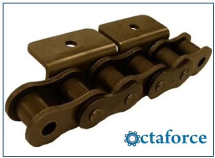 ANSI Standard Roller Chain – WA-1 Wide Contour Attachment- Roller Chain