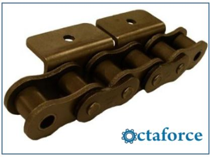 ANSI Standard Roller Chain – WA-2 Wide Contour Attachment- Roller Chain
